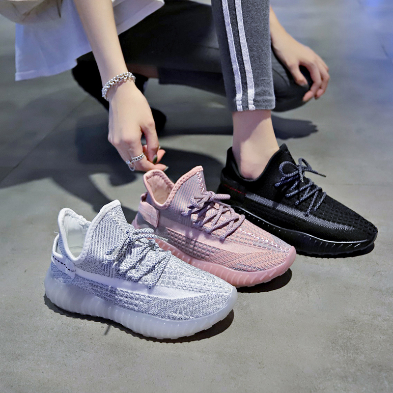 Women's Shoes The New Spring 2020 Fashion Sports Shoes Casual Shoes With Flat Platform And Comfortable Shoe Breathable Knit