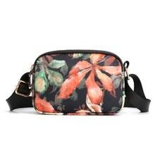Bolsa de ombro feminina à prova dwaterproof água de náilon bolsa de ombro feminina crossbody bolsa de moda impressão saco do mensageiro para a menina de meia-idade mãe carteira