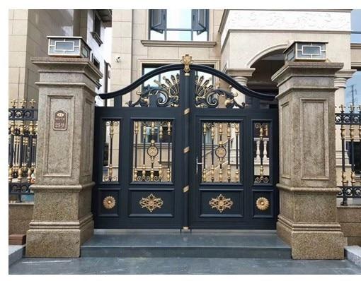 Thailand Style Main Gate Design Aluminum Gate Sliding Open Style