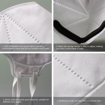 20PCS NIOSH N95 Masks US Standard  Anti-fog Haze Dust-proof Face Masks  N95 for Exhaust Gas Allergies Pollen PM2.5 6