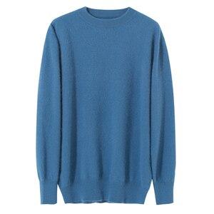 Image 5 - Zocept Winter Men sweter norek z kaszmiru swetry dla człowieka Casual O Neck Warm Fit odzież nowa odzież męska dzianinowy sweter topy