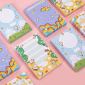 Mohamm 100 шт. серия Naughty Rabbit Sticky Notes съемный креативный Скрапбукинг Канцелярские Товары для школы