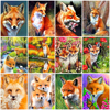 HUACAN Painting By Numbers Animal Drawing On Canvas Hand Painted Paintings Art Gift DIY Coloring By Number Fox Kits Home Decor