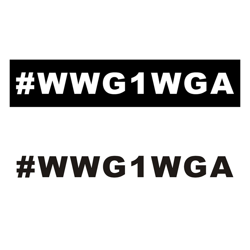 2020 New Cartoon American WWG1WGA Home Pvc Diy Car Sticker