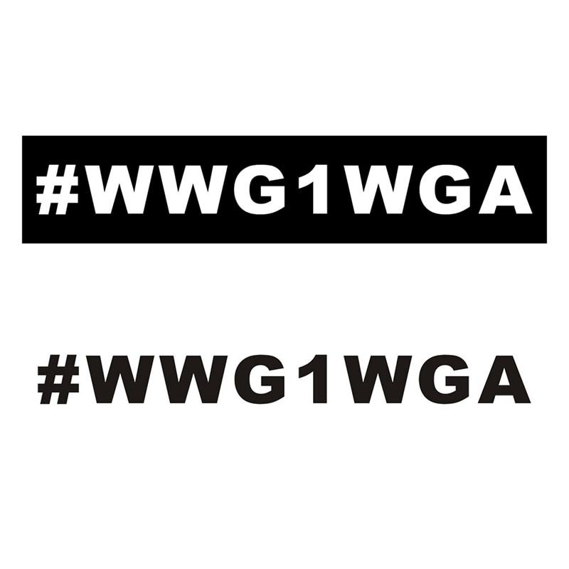 2020 New Cartoon American WWG1WGA Home Pvc Diy Car Sticker