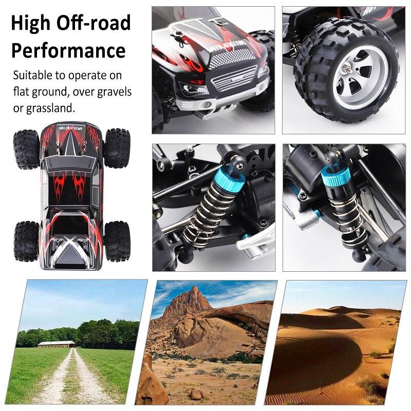 Радиоуправляемый автомобиль WLtoys A979 1/18 4WD гоночный автомобиль с дистанционным управлением Внедорожный гоночный автомобиль 2,4 ГГц пульт дистанционного управления на радиоуправлении светодиодный высокоскоростной грузовик багги - 6