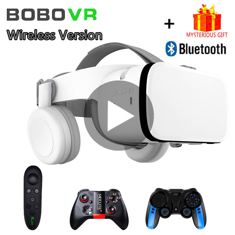 Bobo VR Bobovr Z6 Helmet Bluetooth 3D Glasses Virtual Reality Headset For Smartphone Smart Phone Goggles Viar Lenses Lunette 3 D
