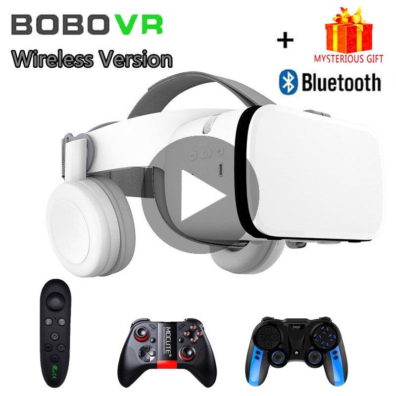 Bobo VR Bobovr Z6 Helmet Bluetooth 3D Glasses Virtual Reality Headset For Smartphone Smart Phone Goggles Viar Lenses Lunette 3 D