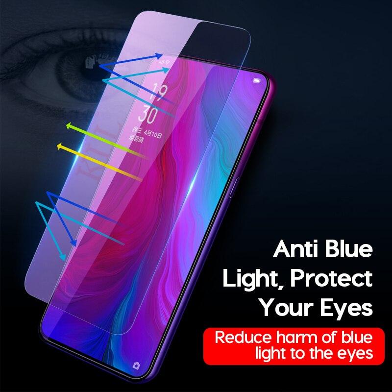 ZYS Screen Protector 25 PCS AG Matte Anti Blue Light Full Cover Tempered Glass for Oppo F7