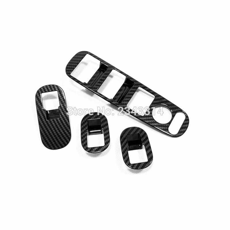 혼다 HR-V HRV 2015-2018 2019 ABS 탄소 섬유 창 제어판 유리 리프트 스위치 커버 트림 자동차 스타일링 액세서리