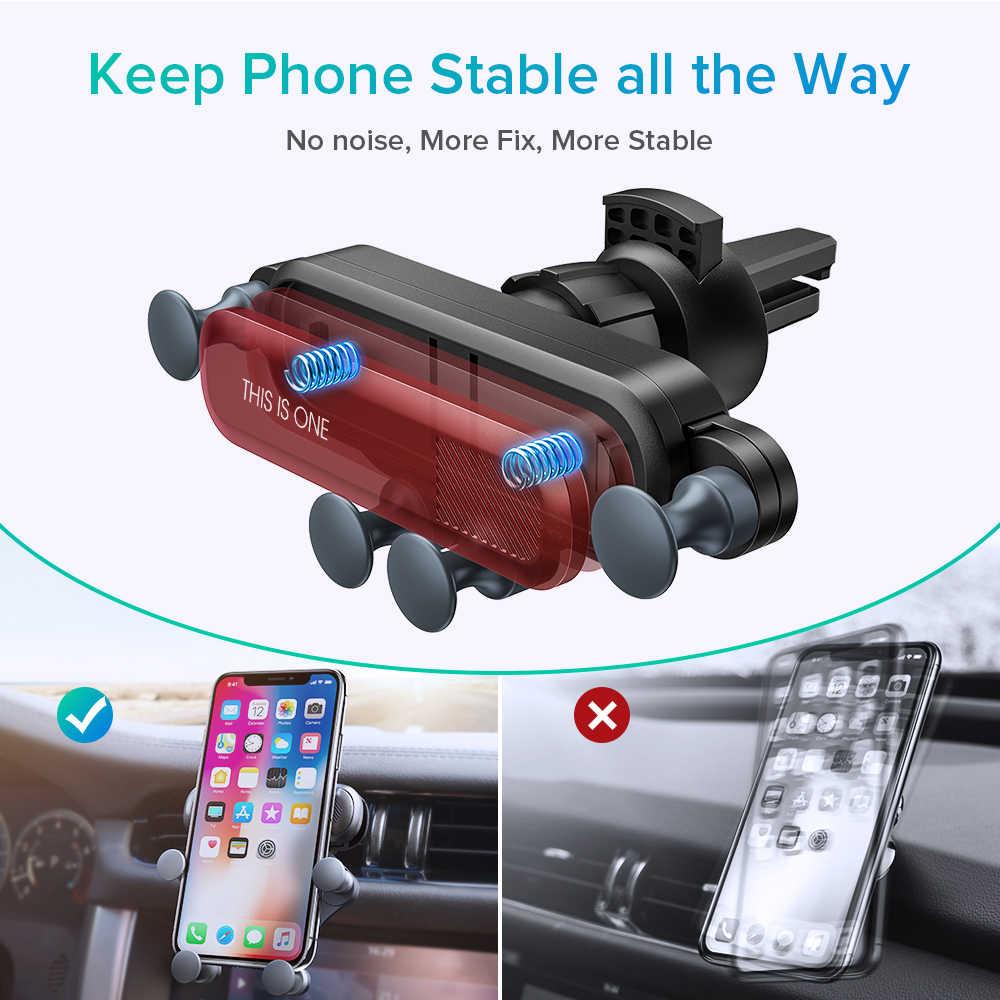 Soporte de teléfono de gravedad para coche sin rejilla de ventilación magnética soporte de coche para Teléfono Celular soporte de montaje de coche anillo de teléfono Universal soporte de coche móvil