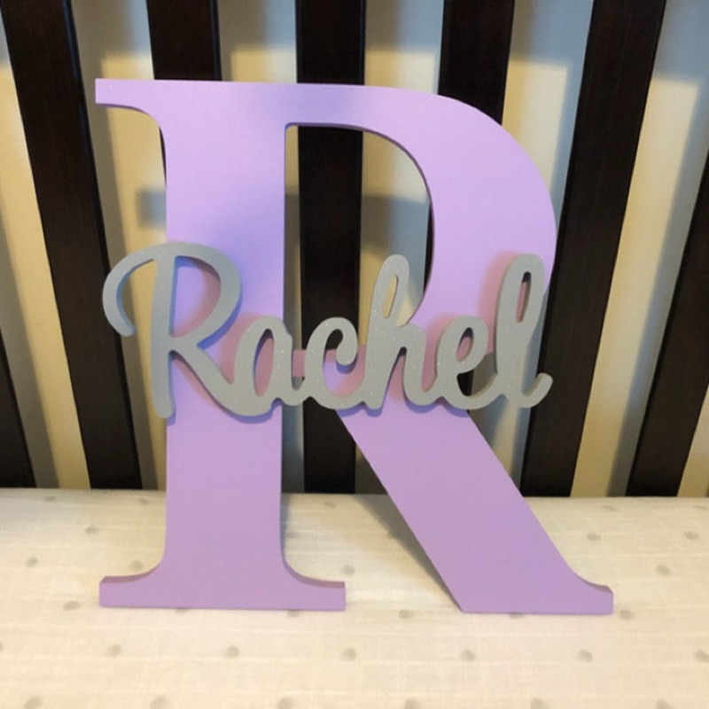 Baby Name Decor Personalized Wood Name Sign Personalised Wall Decor Door Name Sign