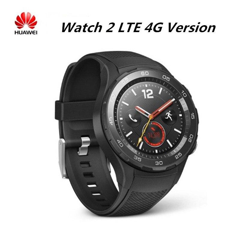 Huawei montre 2 montre intelligente 4G LTE Version prise en charge carte sim appel téléphonique traqueur de fréquence cardiaque pour Android iOS IP68 étanche NFC GPS