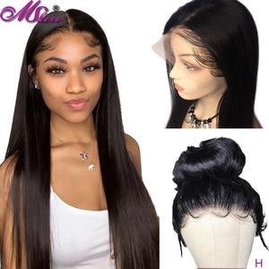 Mshere, 360, фронтальный парик на шнурке, предварительно выщипанные с детскими волосами, 150 плотность, бразильские волосы Remy, прямые человеческие...