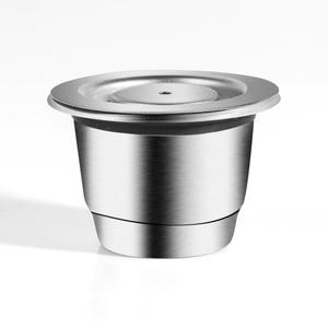 Image 2 - ICafilas cápsula reutilizable de Metal inoxidable para Nespresso, prensa, molinillos de café, compactador inoxidable, cesta para máquina de café Espresso