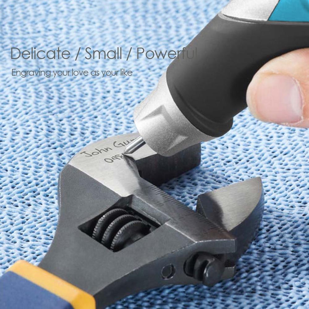 TASP 220V Penna per incisione elettrica a velocità variabile in - Utensili elettrici - Fotografia 5