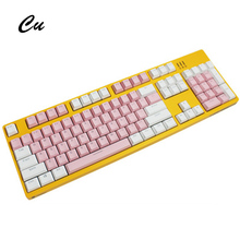 Translucent Double Shot 104 Keys PBT Keyaps Variety Of Color Key Cap Choices For Cherry MX Mechanical Keyboard KeyCap Switches mechanical keyboard keycap backlit pbt shine keycap mechanical keyboard 104 lighting translucent cherry mx oem gaming cap