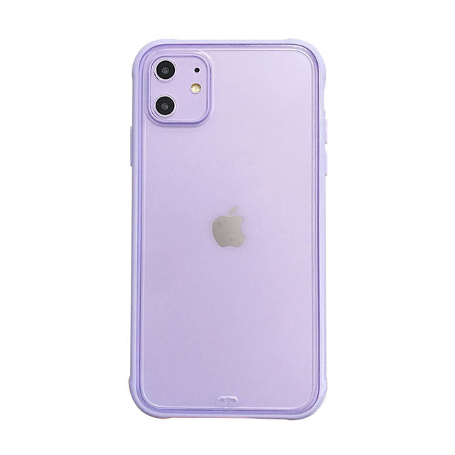 Matte Transparent Phone Case for iPhone 11 Pro Silicone Frame Anti Shock Acrylic