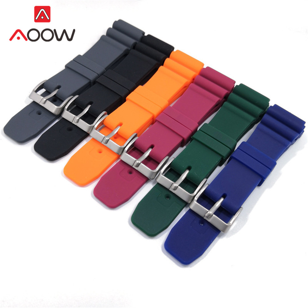 Soft Sport Silicone Strap 22mm Watchband High Quality Rubber Waterproof Men Women Replacement Bracelet Band Watch Accessories