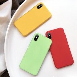 Funda de teléfono de TPU para iPhone XS Max XR X 10, carcasa trasera de silicona, color rojo, verde, rosa, carcasa para iPhone Ten 10 X S
