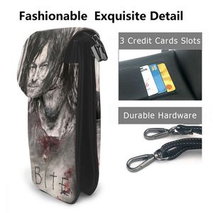 Image 2 - The Walking Dead Shoulder Bag The Walking Dead Leather Bag Multi Function Print Women Bags Crossbody Purse