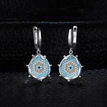Sterling Silver Turquoise Dangle Drop Earrings Jewelry