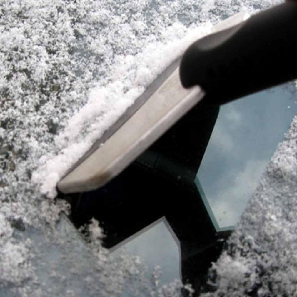 Ijskrabber Mini Auto Sneeuw Schraper Schoppen Rvs Auto Voorruit Window Ijskrabber Zuigmond Sneeuw Removal Brush Tool