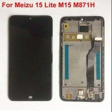 Originele Getest Voor Meizu 15 Lite M15 M871H Volledige Lcd scherm + Touch Screen Digitizer Vergadering Met Tools + Frame 1920x1080