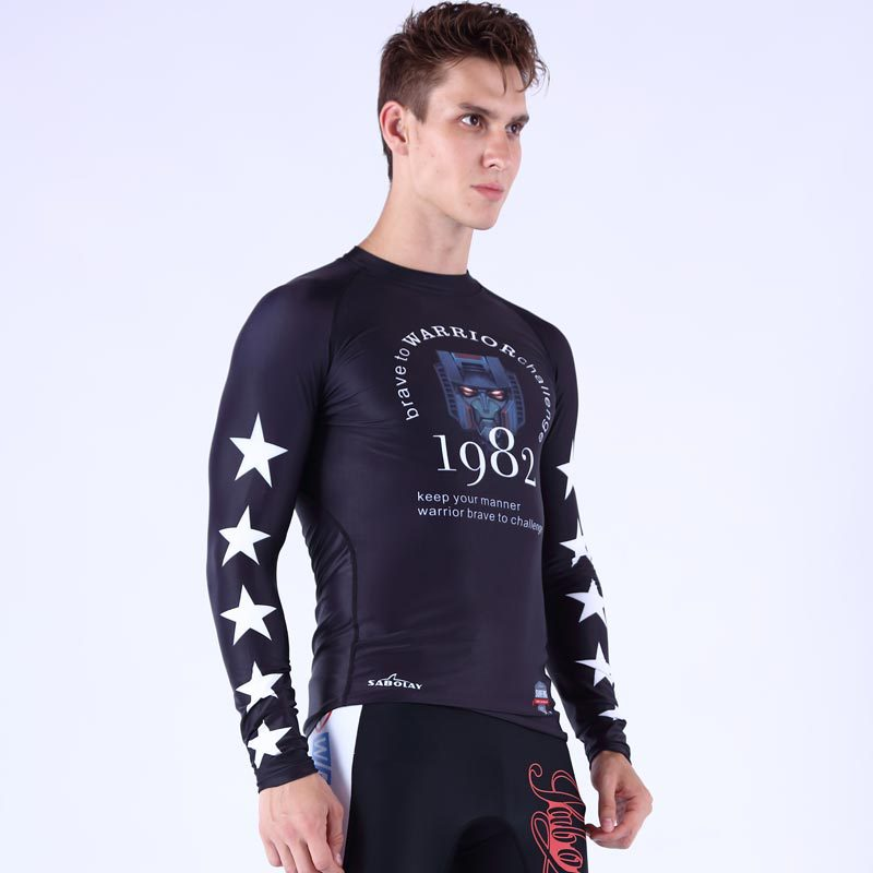 SABOLAY-Korean-style Long Sleeve Men Surfing Sun-resistant Bathing Suit Quick-Dry Swimwear Ny016