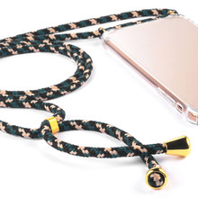 Funda para teléfono con collar cruzado con cordón de correa Colorida funda para teléfono transparente a prueba de golpes cuerda para Huawei P10 P20 P30 Pro Mate10