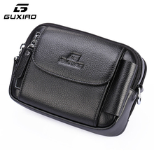 GUXIAO New Multifunctional Large Capacity Wallet Fashion Personality Practical Genuine Leather Simple Shoulder Bag Free Shipping