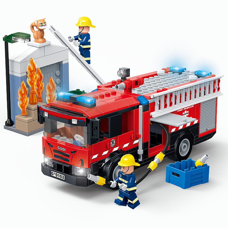Cidade médica ambulância resgate helicóptero escada de emergência caminhão de bombeiros blocos de construção modelo kit tijolos brinquedos para crianças presentes