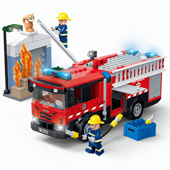 City Medical Ambulance Rescue Helicopter Emergency Ladder Fire Truck Building Blocks Model Kit Bricks Toys for Children Gifts 788pcs city fire command center engine ladder truck building blocks sets creator bricks playmobil educational toys for children