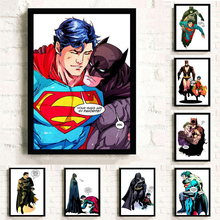 Superman Washroom Spiderman WC Wall Art Canvas Painting Bathroom Nordic Poster Pictures For Living Room Home Decor Unframed