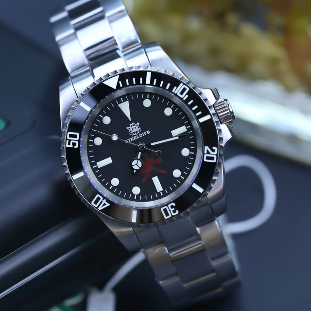 STEELDIVE 1954 Oman Special Design 200m Waterproof Dive Watch NH35 Sapphire  Automatic Watches C3 Luminous Mens Diver Watches