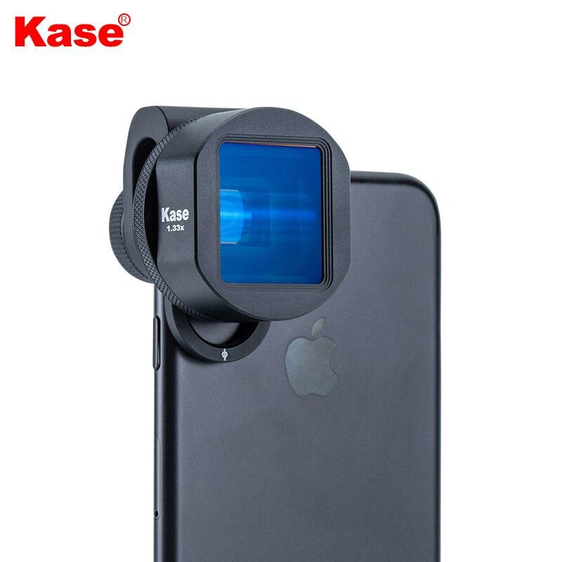Широкоэкранный объектив Kase 1.33X, анаморфная пленка для мобильного телефона, широкоформатный видеообъектив 2,4: 1 для кинотеатра, iPhone, Samsung, Huawei