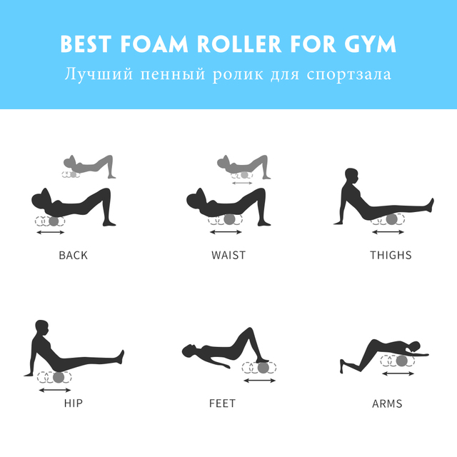 Foam Roller 30cm Yoga Column Gym Fitness Foam Roller Pilates Yoga Exercise Back Muscle Massage Roller Soft Yoga Block. <div></div> - FitnessKim