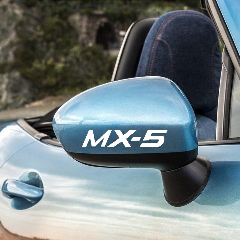 4 шт. стикер автомобиля для Mazda MX-5 MX5 наклейки на зеркало заднего вида автомобиля стикер s для покрытия царапин внешние аксессуары