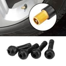 1 Set TR-413 Schwarz Gummi Snap-In Auto Reifen Tubeless Ventil Vorbauten Rad Reifen reifen Ventil Vorbauten Auto Kappe für Auto