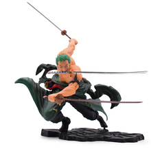 18 cm Anime One Piece Action Figure POP Roronoa Zoro SA-MAXIMUM Ver. PVC Cartoon Figurine Toys Collectible Model Boy Gift anime one piece pop dracule mihawk gk statue figure figurine collectible model toy