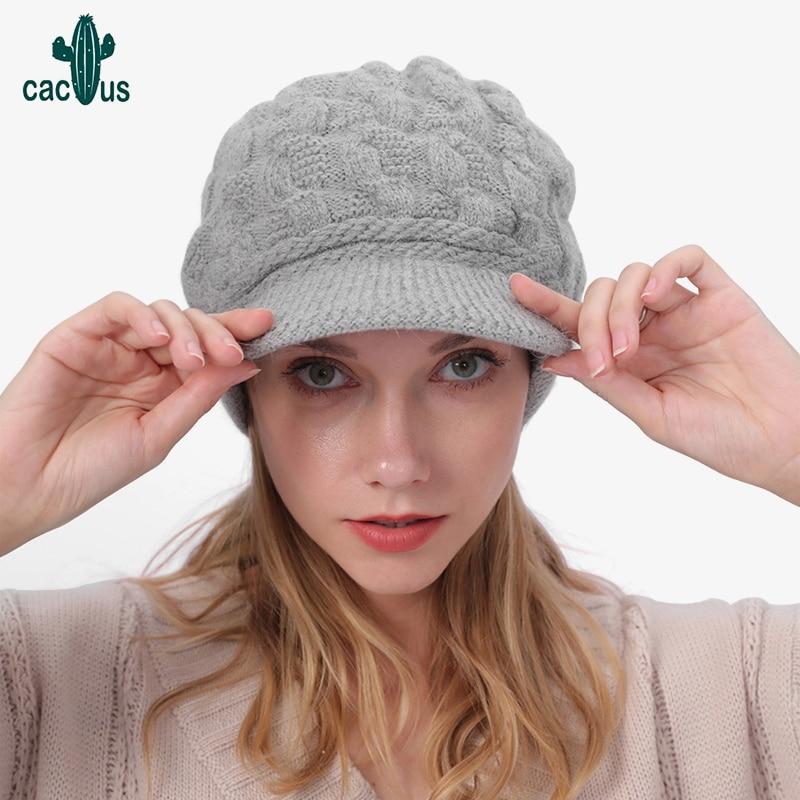 Winter Hat Skullies Beanies Men Women Warm and Plush Knitted Hat Bonnet Cap Woollen  Knit Hats