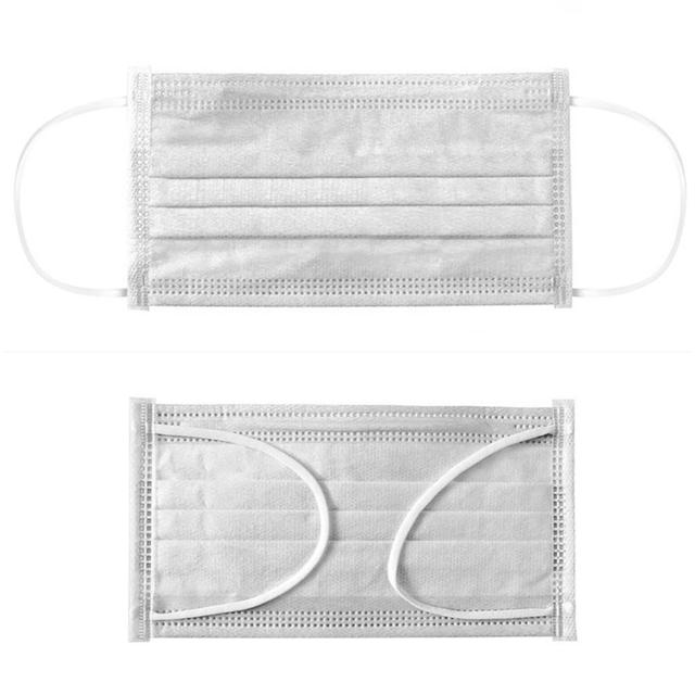 50pcs 3 Layer mouth Mask Non-woven Dust  Disposable mask Dustproof Anti-fog health Care   Elastic Earloop protective  Face Masks 3