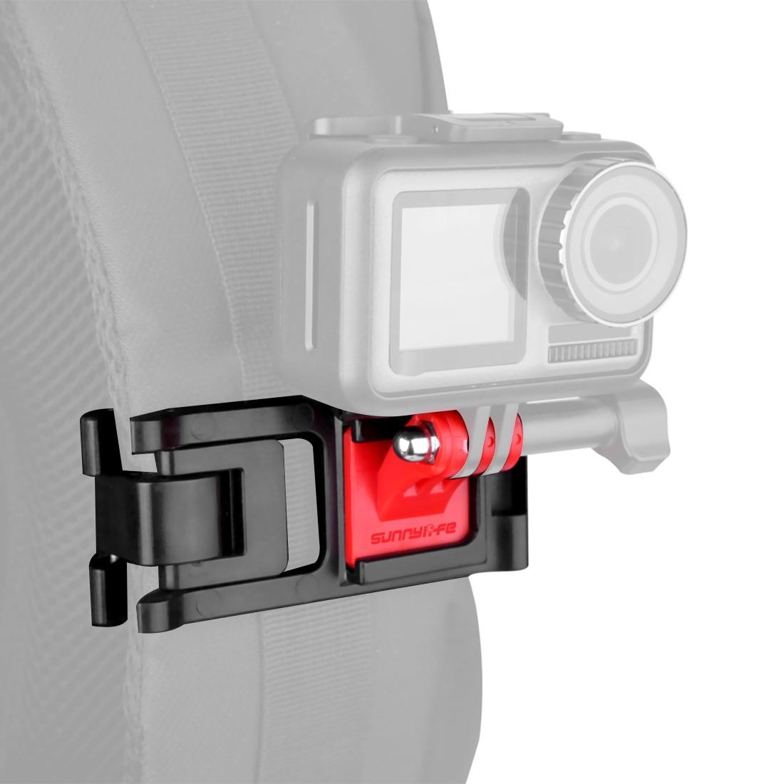 Adjustable Action Camera Backpack Strap Holder Clip Universal For DJI OSMO Pocket GoPro Hero 8 7 6 5 SJCAM XiaoYi Clamp Mount