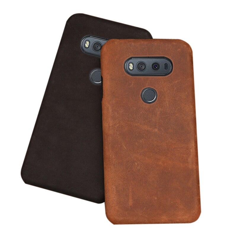Crazy Horse Skin Phone Case For LG G6 G7 G8s Thinq G3 G4 G5 V10 V20 V30s V40 V50 Thinq Q6 Q7 Q8 K50 K4 K8 2017 K10 2018 Case
