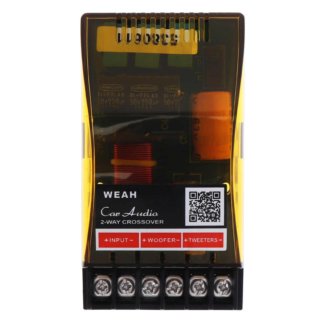 Altavoces divisores de frecuencia 120W 2002, altavoces de Audio para coche de 2 vías, divisores cruzados, filtro para vehículos