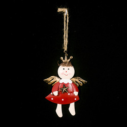 Iron Painted Star Angel Pendant Christmas Decoration 2020 New Year Decora Child Toy Navidad Gift Christmas Decorations for Home 5