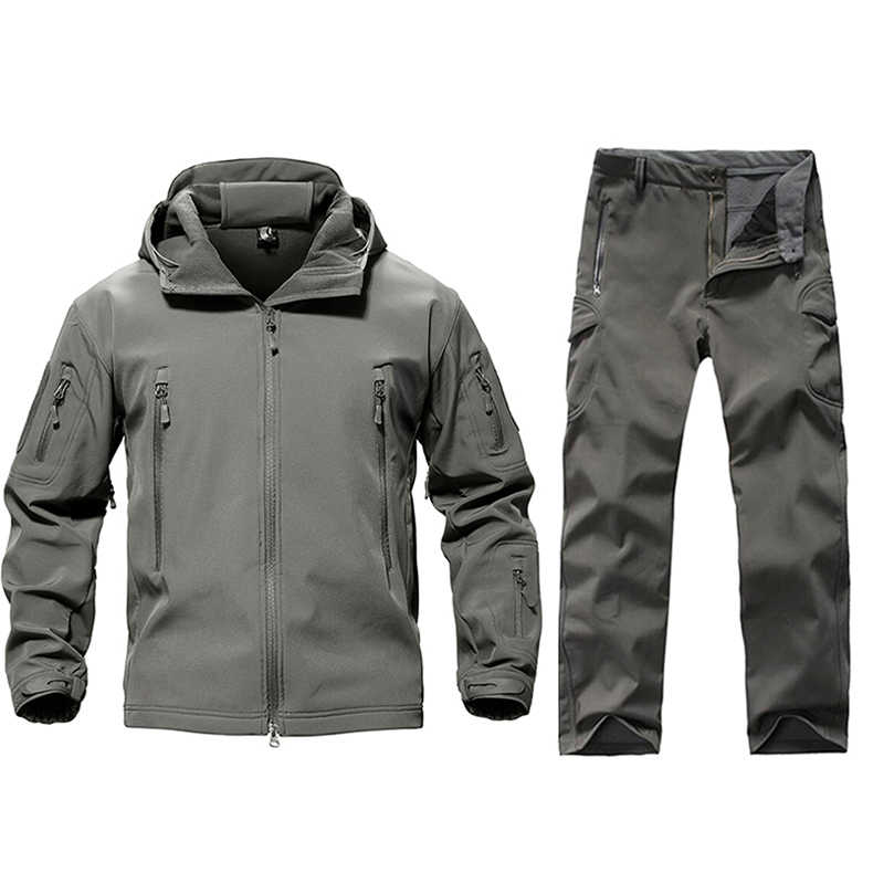 Nowi mężczyźni wojskowy mundur taktyczny odzież wodoodporny strój wojskowy spodnie taktyczne męskie kamuflaż polowanie ubrania