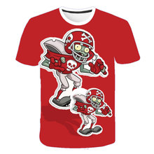 Children Game Plants Vs Zombies Wars Design T-shirts Boys/Girls Summer White T shirts Kid Clothing Toddler Short Sleeve Tops Tee children s clothes plants vs zombies wars t shirt boys t shirt kids cartoon tshirt baby girls boys clothing summer cool tops tee