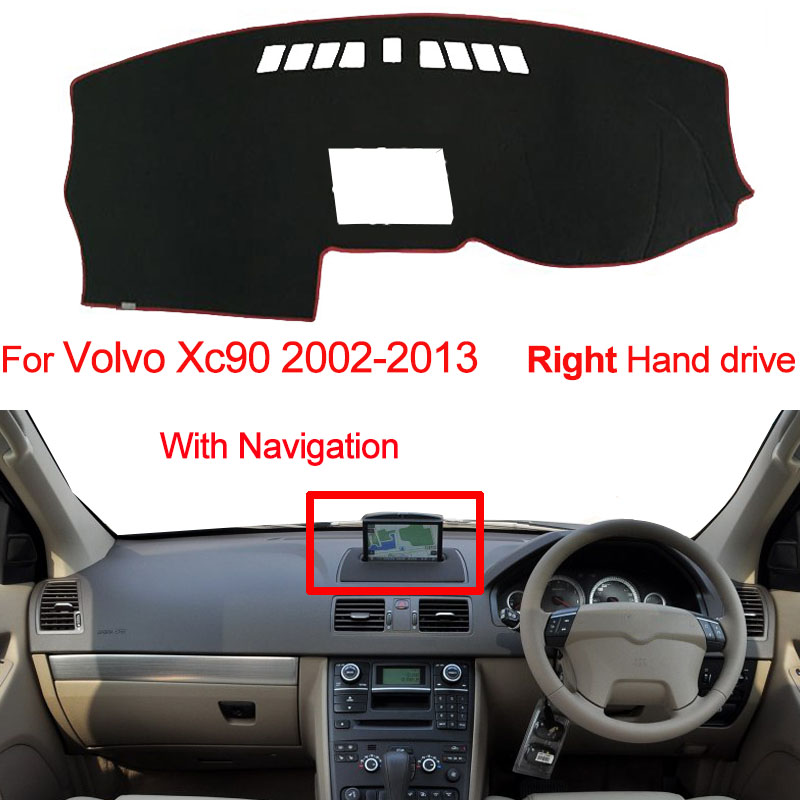 For Volvo Xc90 2002-2013 Left/Right Hand Drive 1PC Car Dashboard Mats Cover Sun Shade Dashboard Cover Capter