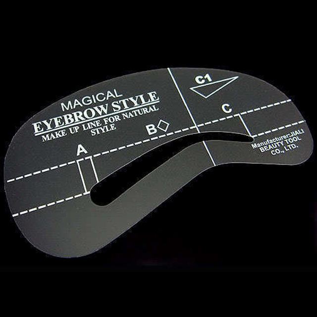 4Pcs Eyebrow Shaping Stencil Set Grooming Tools Drawing Card for Dashing Eyebrows C1-C4 5×10cm NShopping 5